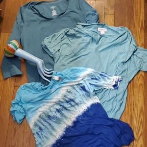 Blue sparkly tops lot